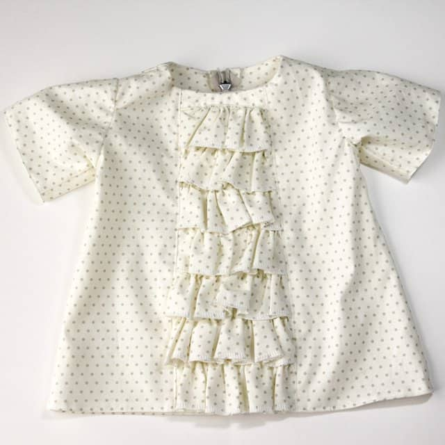 ruffled panel baby dress