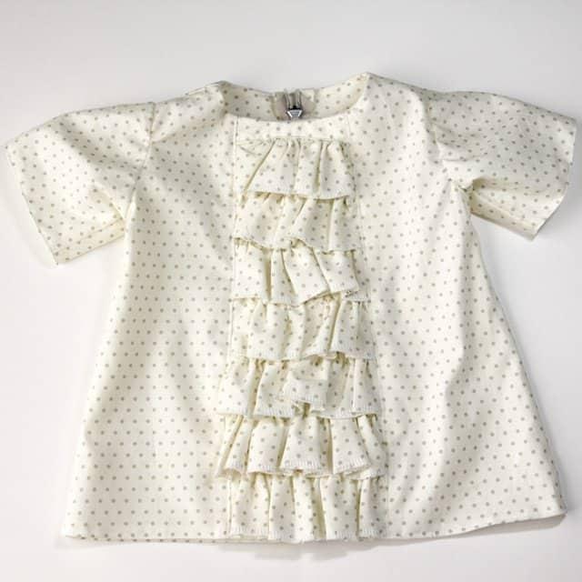 ruffled panel baby dress