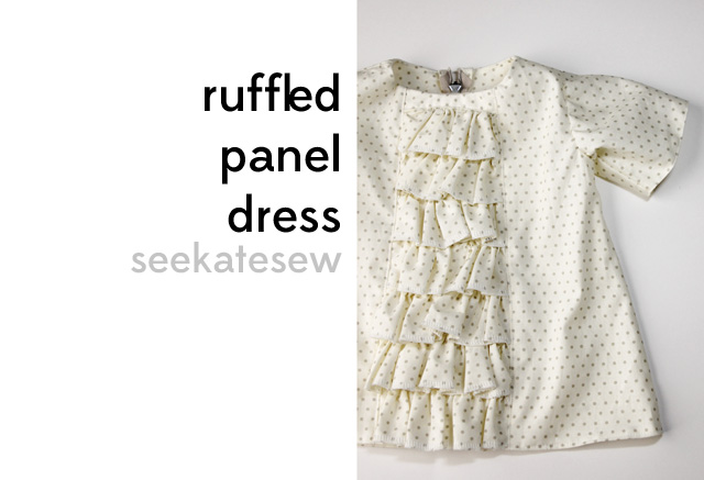ruffled baby dress tutorial