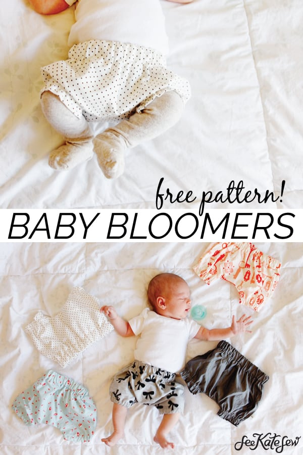 baby bloomers sewing pattern | Baby Bloomers, Baby Bloomers Pattern, Free Baby Bloomers Pattern, Sewing Patterns for Babies, Free Sewing Pattern for Babies #babybloomers #babybloomerspattern #freesewingpattern || See Kate Sew via @seekatesew