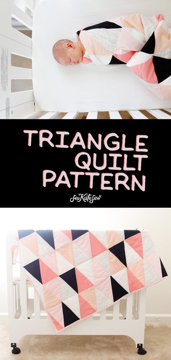 DIY Triangle Quilt | See Kate Sew