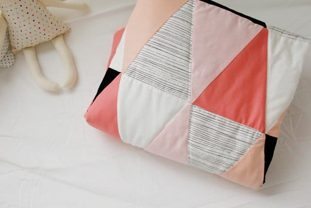 Modern Ombre B W Triangle Quilt Tutorial Pattern See