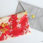 floral and grey envelope clutches!