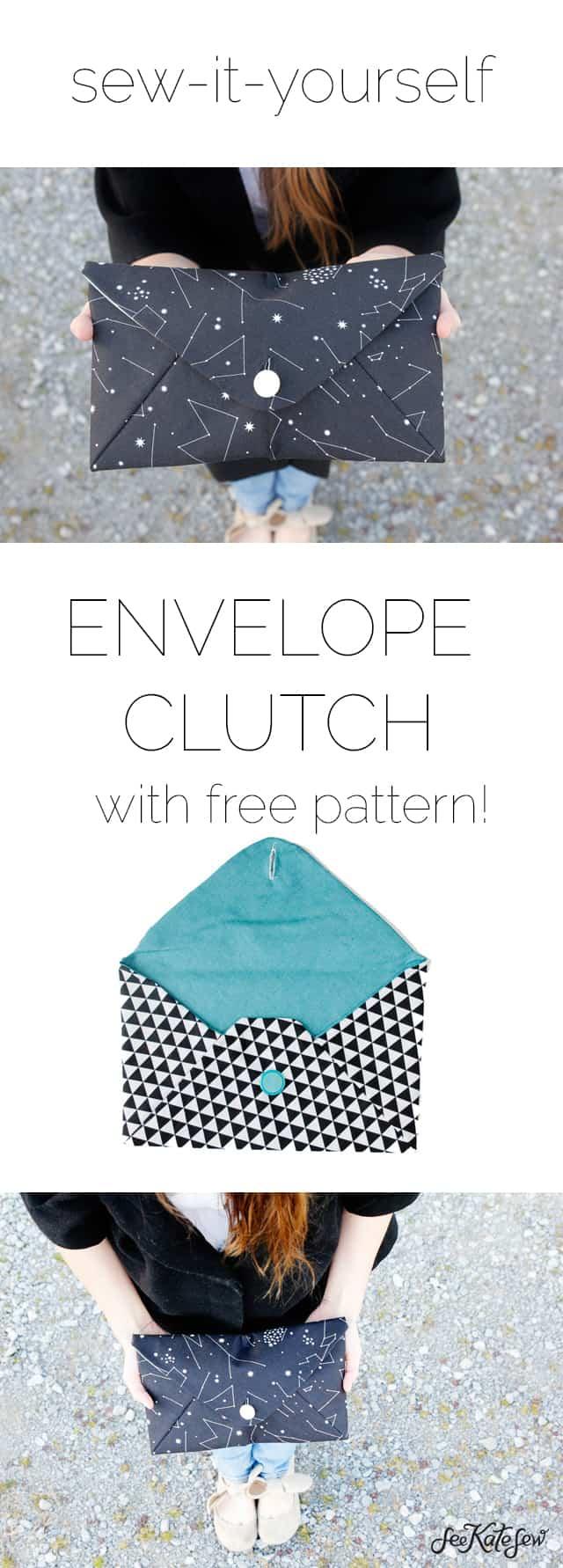 Envelope clutch pattern see kate sew envelope clutch pattern free see kate sew jeuxipadfo Gallery