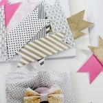 birth announcements and washi paper