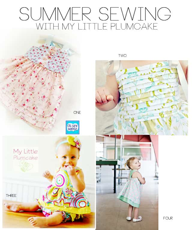 4 cute girl's sewing patterns from my little plumcake