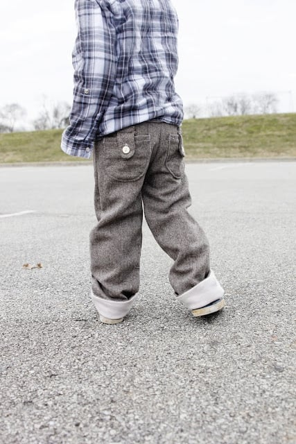 boy pants sewing pattern elastic