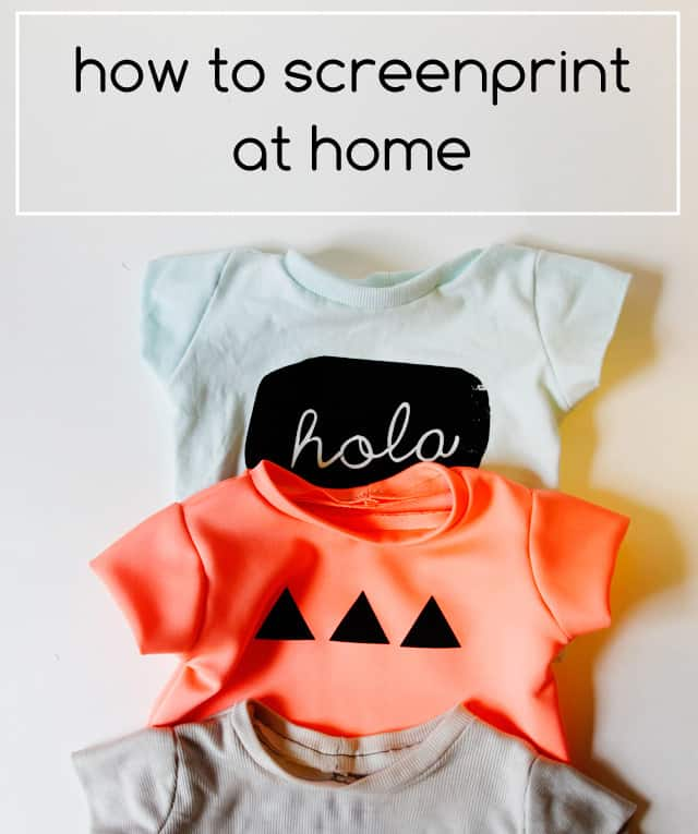 how to screenprint at home