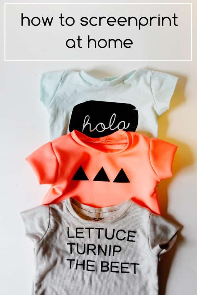 How To Screen Print At Home Graphic Tees For Baby And A Silhouette Portrait Giveaway See