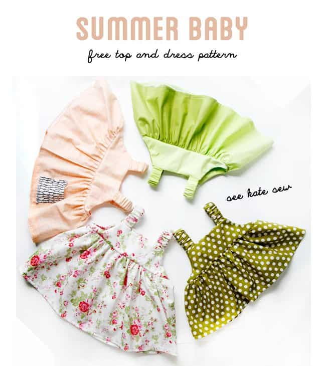 Easy Baby Dress Pattern For The Summertime See Kate Sew - Free invoice templates pdf american girl doll store online