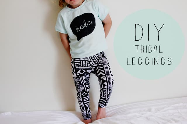 DIY tribal leggings