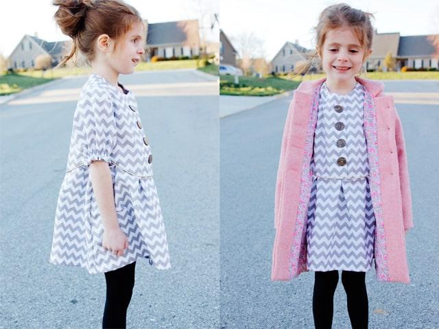 zig zag tunic and bubblegum coat - see kate sew