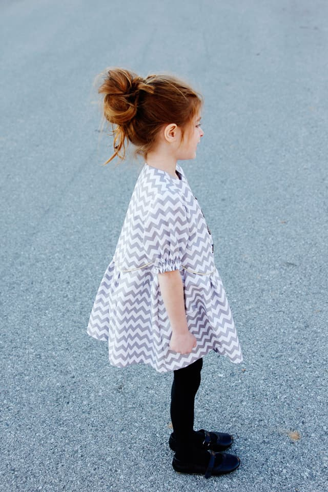 zig zag dress pattern