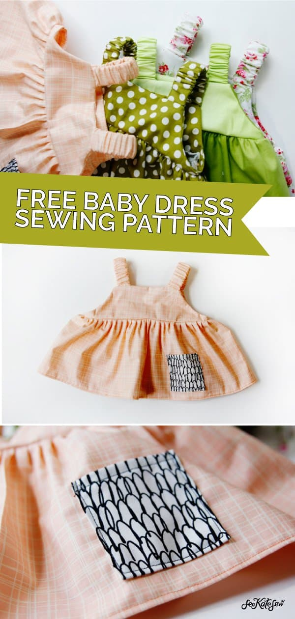 summer baby clothes | easy baby dress pattern for summer | summer dress pattern for babies | baby dress pattern | free sewing patterns | sewing baby clothes | baby dress tutorial || see Kate sew #babydress #freepattern #babydresspattern
