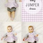 gingham style // free baby jumper dress pattern (with a ruffle!)