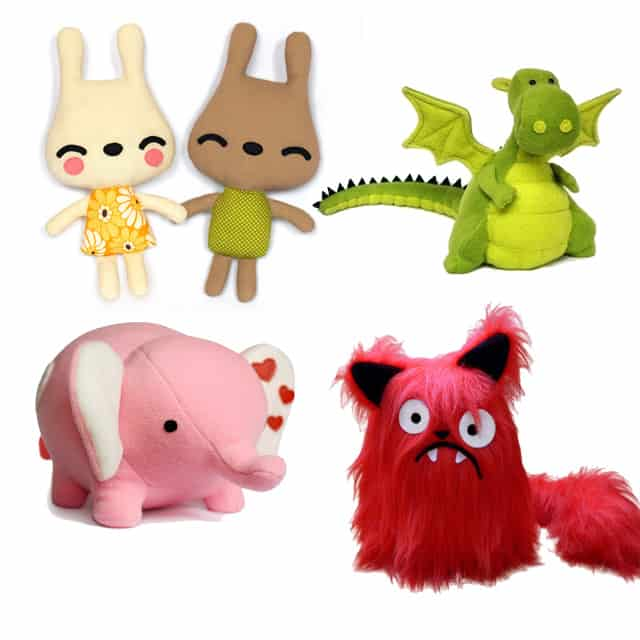 funky toys from DIY fluffies