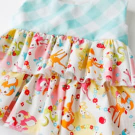 kawaii + gingham baby dress