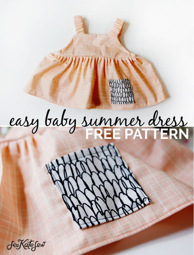 Easy Baby Summer Dress - See Kate Sew