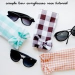 gingham style // simple sunglasses case tutorial