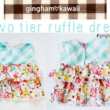 two tier ruffle dress- free pattern! // see kate sew