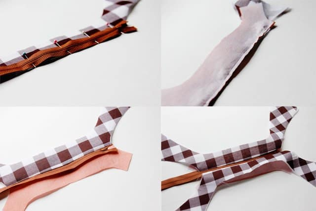 gingham style: knot bow pencil case