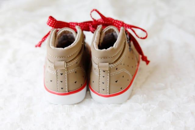 polka dot heart shoes