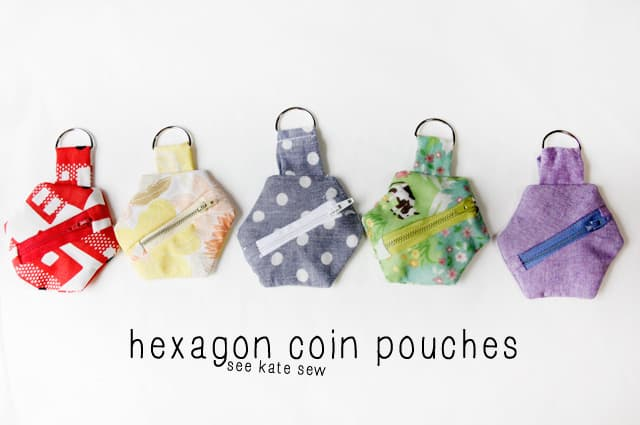 hexagon coin pouch tutorial