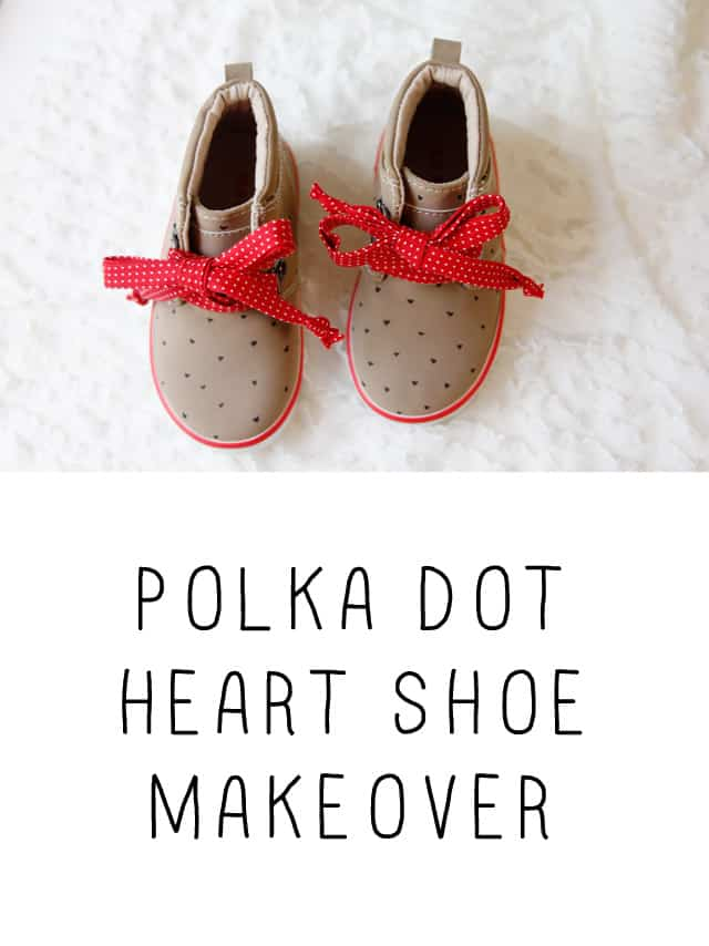 Polka Dot Heart Shoes!