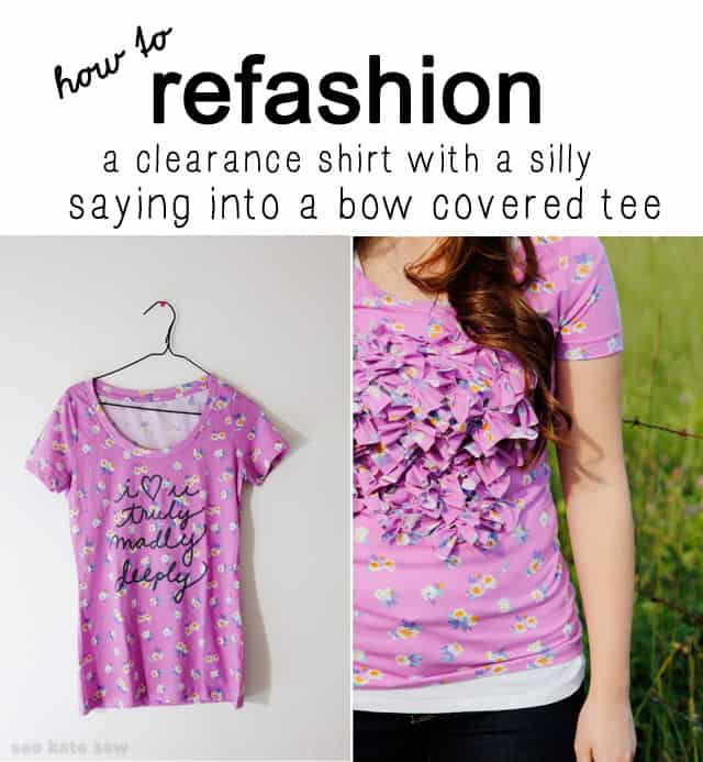 cute clearance tshirt refashion by see kate sew seekatesew.com