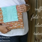 ruffled fold over clutch tutorial