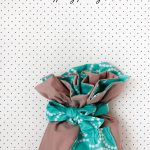 the mystery fabric ruffle challenge! – ruffle fabric gift bag tutorial