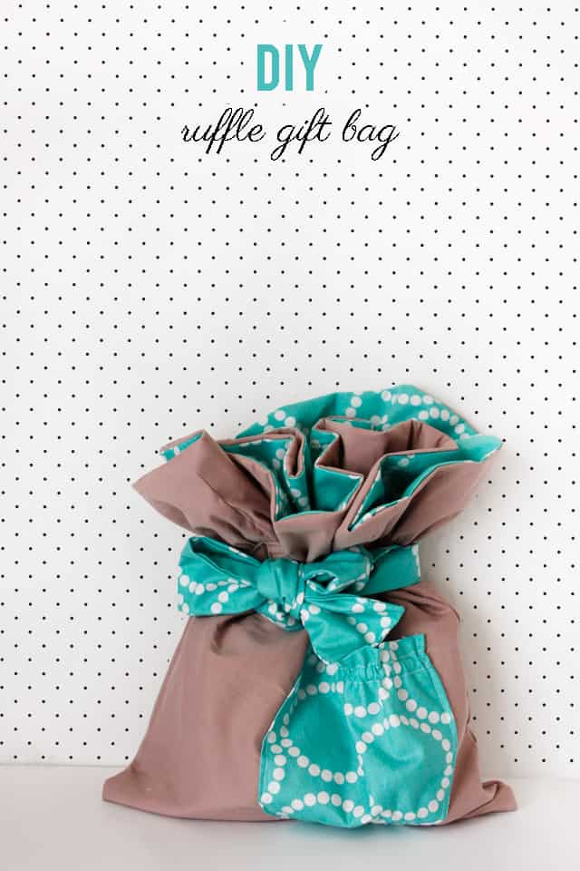 fabric gift bag tutorial | diy ruffle gift bag | sewing tips and tricks | homemade gift bags | how to sew a gift bag | handmade gift bags || See Kate Sew #diygiftbag #sewingtips #giftbagdiy