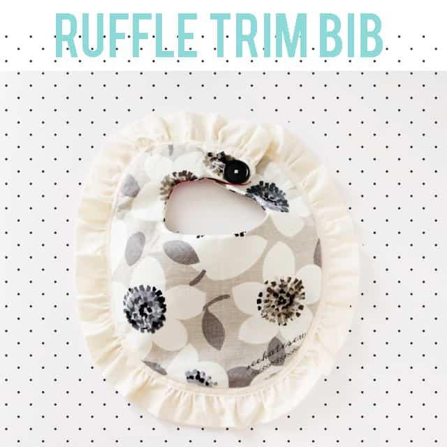 ruffle trim bib tutorial