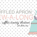 ruffled apron sew-a-long update and the first finisher!