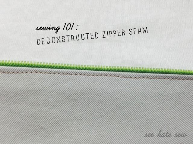 Sewing 101: Deconstructed Zipper Seam | Sewing 101 | Sewing Tutorials | Deconstructed Zipper Seam | How to Sew a Zipper | Zipper Seams | Zipper Tutorial || See Kate Sew #sewing101 #sewingtutorials #deconstructedzipperseam #seekatesew