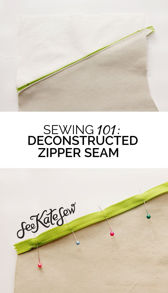 Deconstructed Zipper Seam | See Kate Sew.