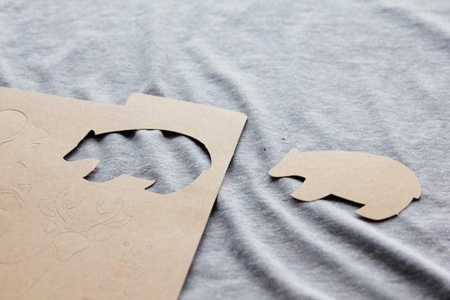 bear stenciled blanket handmade charlotte stencils