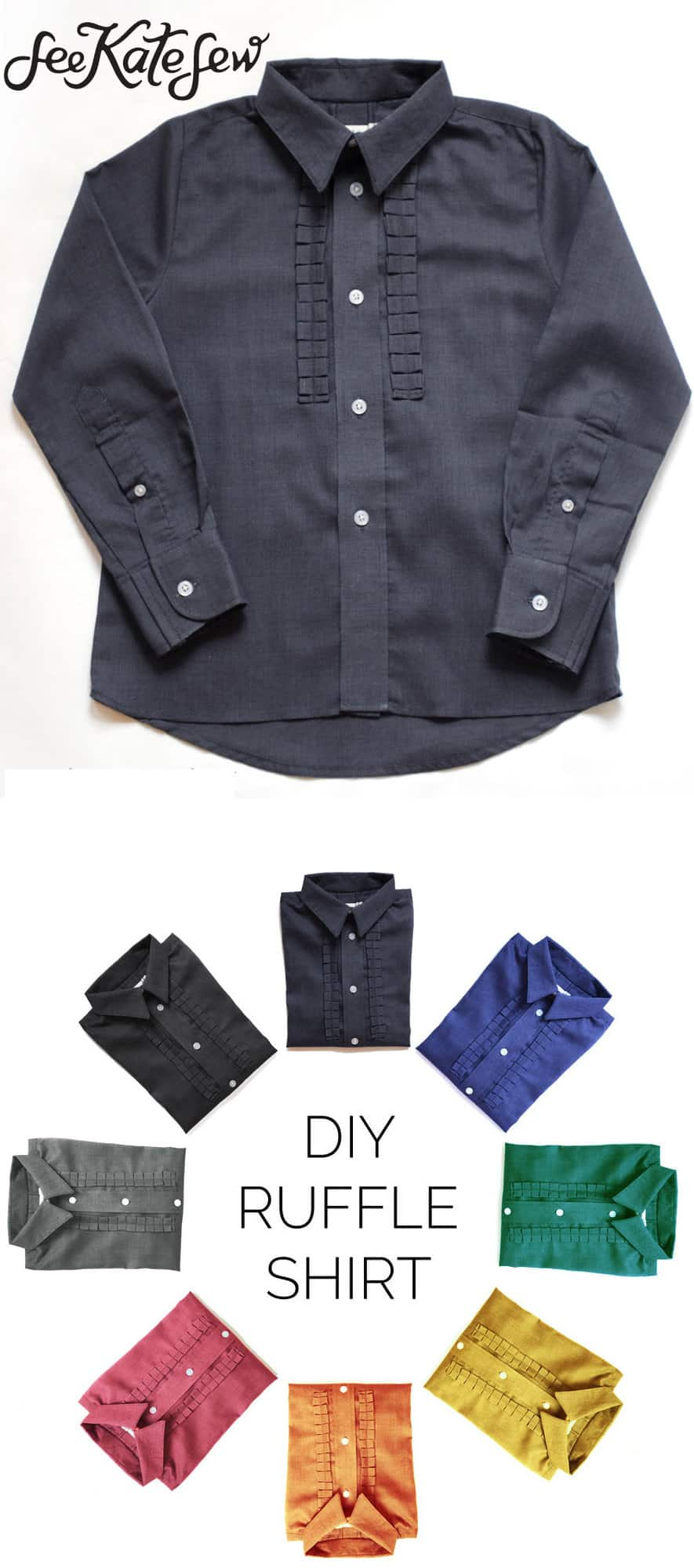 DIY Boy Ruffle Shirt|See Kate Sew