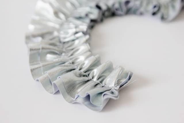 metallic-ruffle