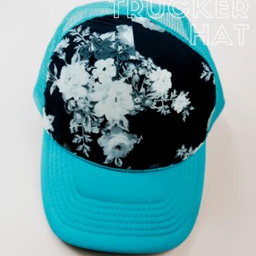 DIY Trucker Hat   Fabric Trucker Hat