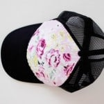 floral trucker hat DIY