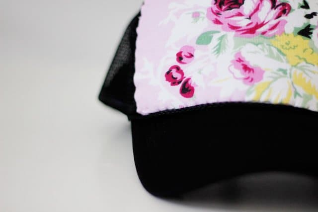 plain trucker hat to floral trucker hat