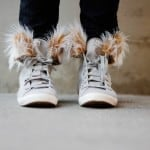 removable fur lined high tops tutorial