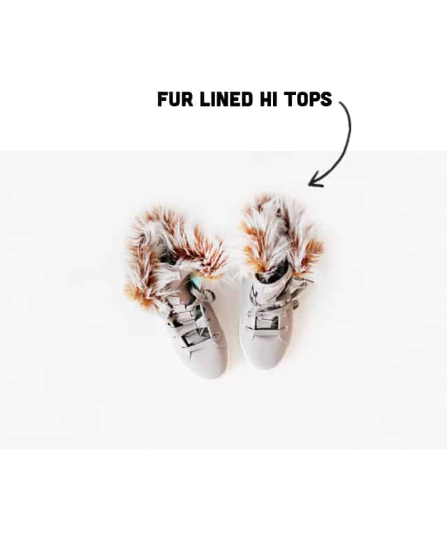 diy fur lined hi tops tutorial