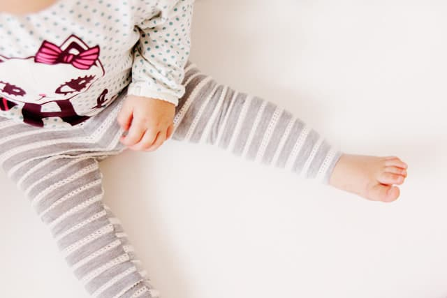 floral striped leggings for baby