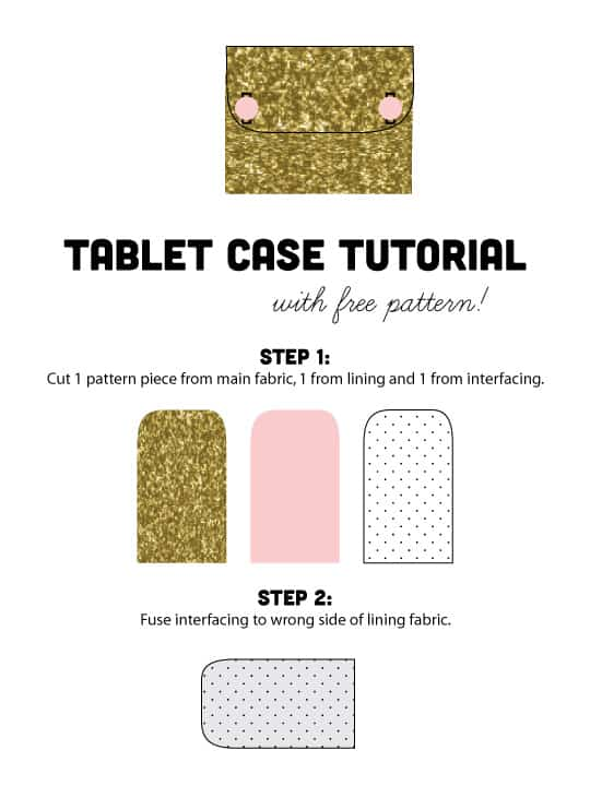 gold tablet case tutorial