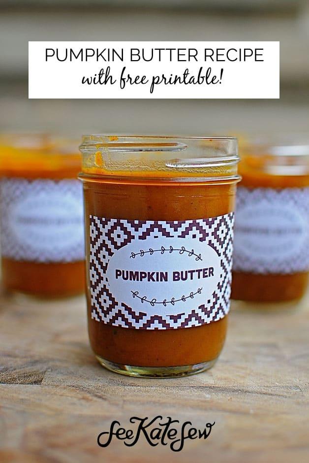 Pumpkin Butter|See Kate Sew