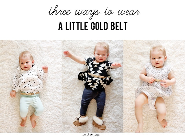 BABY STYLE // 3 ways to wear a little gold belt