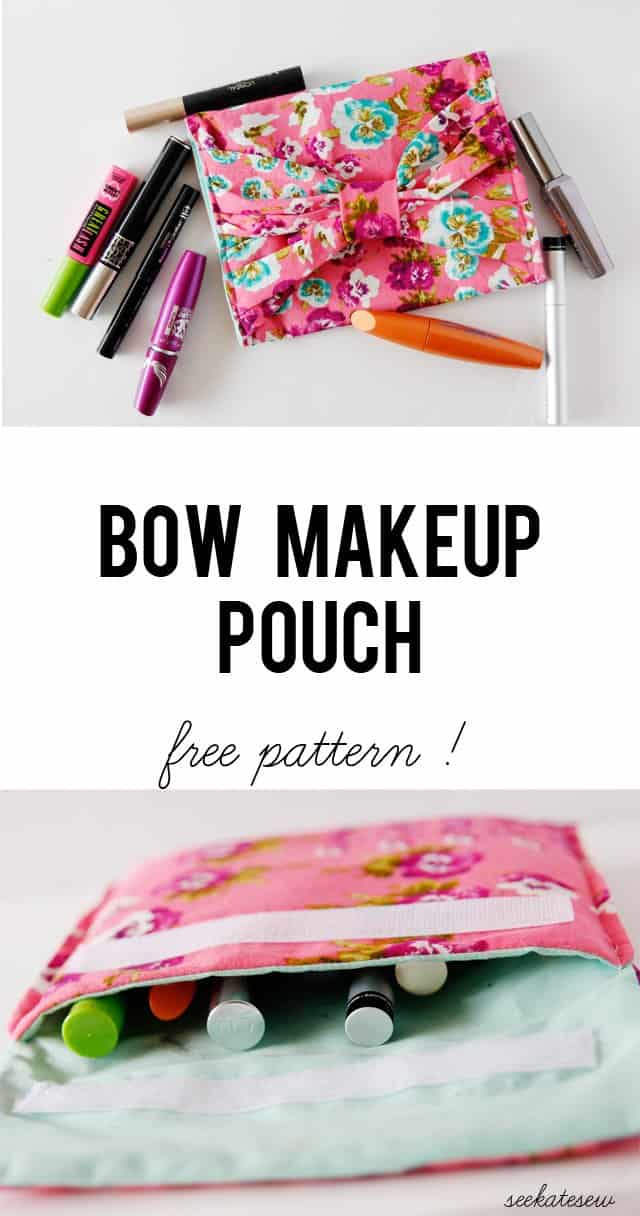 bow makeup pouch