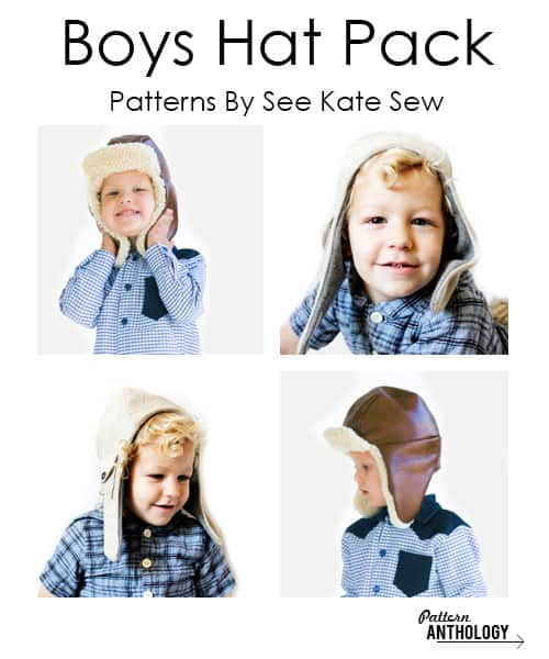 boys hat pack patterns!